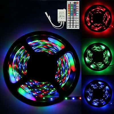 5M 500CM RGB 3528 300 Led SMD Flexible Light Strip Lamp+44 key IR Controller
