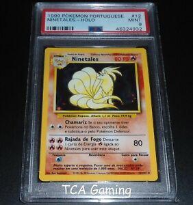 PSA-9-MINT-Ninetales-12-102-PORTUGUESE-Base-Set-HOLO-RARE-Pokemon-Card