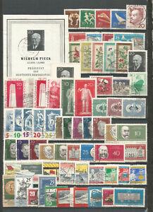 DDR-1960-gestempelt-kompletter-Jahrgang-mit-Blockmarke-Block
