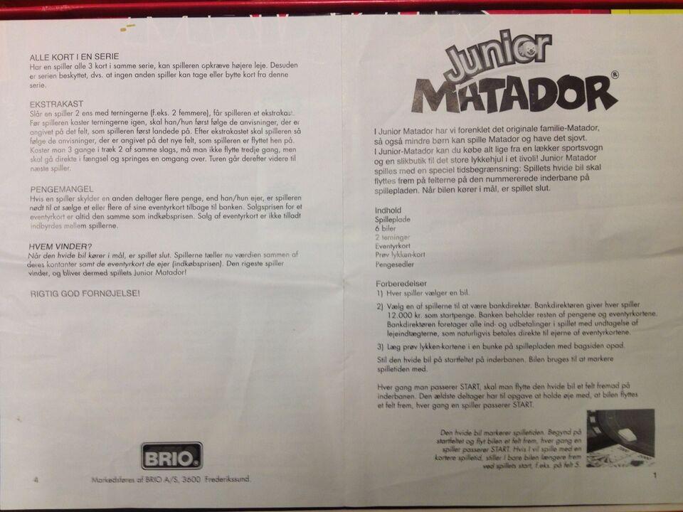 regler junior matador