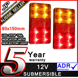 LED-TRAILER-LIGHTS-TRAILER-TRUCK-CARAVAN-80X150MM-PAIR-TAIL-LIGHTS-SUBMERSIBLE