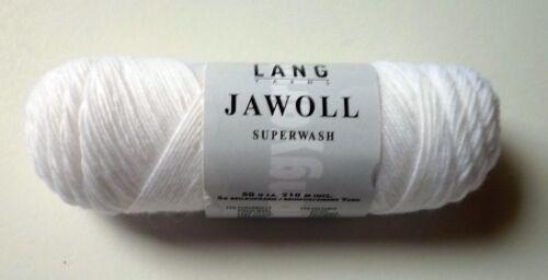 Beilaufgarn Fb.01 weiß JAWOLL superwash Sockenwolle 4fach incl