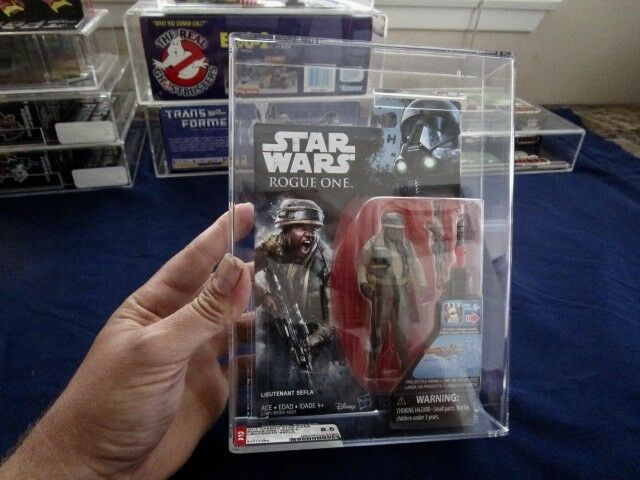 Star Wars 2017 Roque One Lieutenant Sefla AFA Sealed MIB BOX