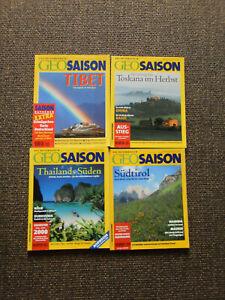 4 Ausgaben Geo-Saison, Geo-Saison-Magazine, viele Jahrgänge, Konvolut - Bayern, Deutschland - 4 Ausgaben Geo-Saison, Geo-Saison-Magazine, viele Jahrgänge, Konvolut - Bayern, Deutschland