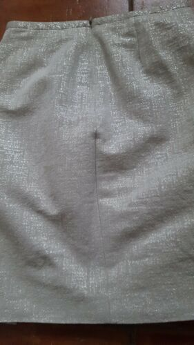 Formal Length Wrap Knee 34 Skirt Eur 8 Designer Silver Party Size 6 Uk Carroll p7UwH