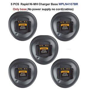 5xRapid Ni-MH Charger Base For Motorola PRO5350 GP344 GP340 GP328 Portable Radio