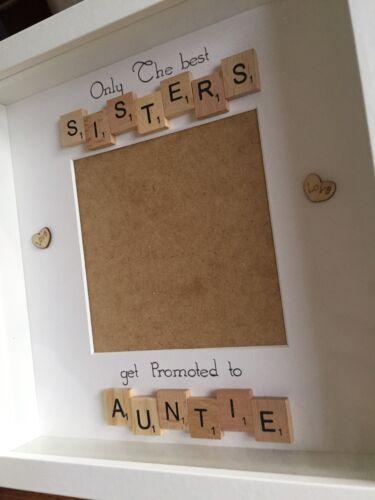 Personnalisé seulement les meilleures soeurs être promus à tante Scrabble Tile Cadre.