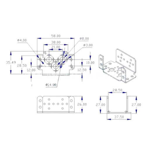 Multifunction Servo Bracket Screw Steering Robotic Frame Mechanical Arm