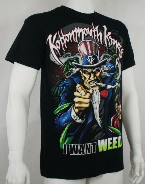 Authentic KOTTONMOUTH KINGS I Want Weed Logo T-Shirt S M L XL 2XL NEW