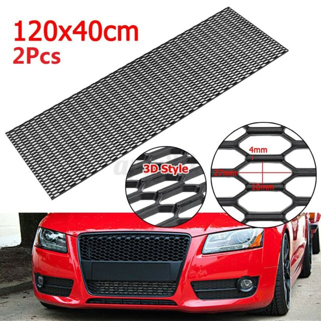 2PCS 47.24''x15.74'' 3D ABS Car Front Bumper Hexagon