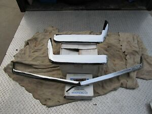 68-69-70-71-72-73-Corvette-Orig-GM-Bumpers-Prof-Triple-Rechromed-Like-New-NCRS