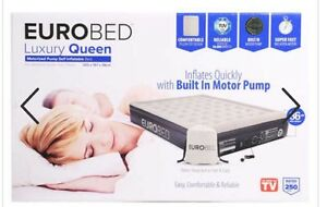 EUROBED LUXURY QUEEN - AS SEEN ON TV WITH PUMP -1 Year Warranty-Cheapest Ever !