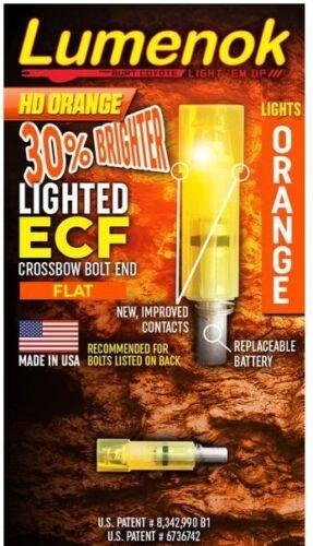 Lumenok Crossbow Nock HD Orange Easton//Beman Flat Nock 1 Pack