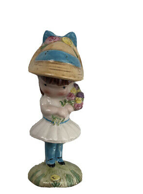Joan Walsh Anglund Little Girl Beswick Figurine England Vintage Girl In Bonnet /& Flowers