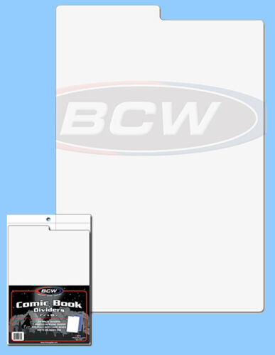 50ct *FREE SHIPPING in USA COMIC Size BCW Fits w//lid on Tabbed Box Dividers