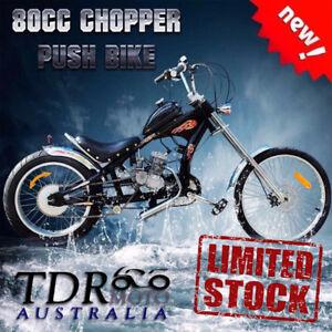 Motorised-Harley-Style-Chopper-Bicycle-Push-Bike-w-039-80cc-Motor-Engine-XMAS-Gift