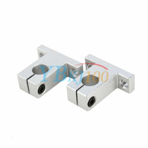 2pcs SK8//10//12//16 Linear Rail Bearing Shaft Guide Support Bracket Clamp Alloy SP