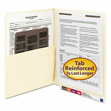 50pack Smead 34100 Manila Et Pocket Fastener Folders Letter Size Straight Cut