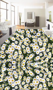 3D White Daisy Flower 78 Floor WallPaper Murals Wall Print Decal AJ WALLPAPER US