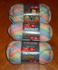 Bernat Softee Chunky Yarn Lot Of 3 Skeins (Sleepytime #29306)