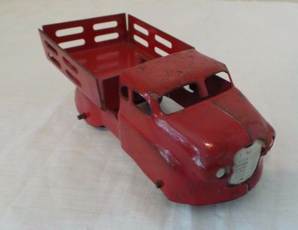 Vintage década de 1950 rosso Estaca agricultores Corporal camión de recogida