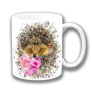 Mignon-Herisson-avec-coeur-tasse-cafe-039-All-you-need-is-love-039-284ml-ceramique