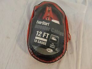 New-Everstart-12-FT-10-Gauge-Booster-Cables-For-Compact-Vehicles-32893