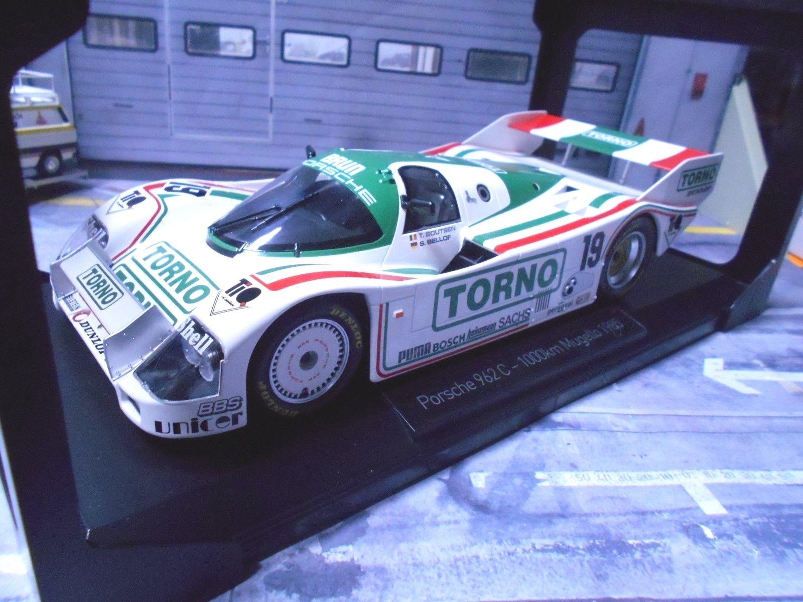 Con precio barato para obtener la mejor marca. Porsche 962c 962c 962c 962 C mugello 1985  19 torno ofrece Brun Bellof Boutsen límites norev 1 18  selección larga