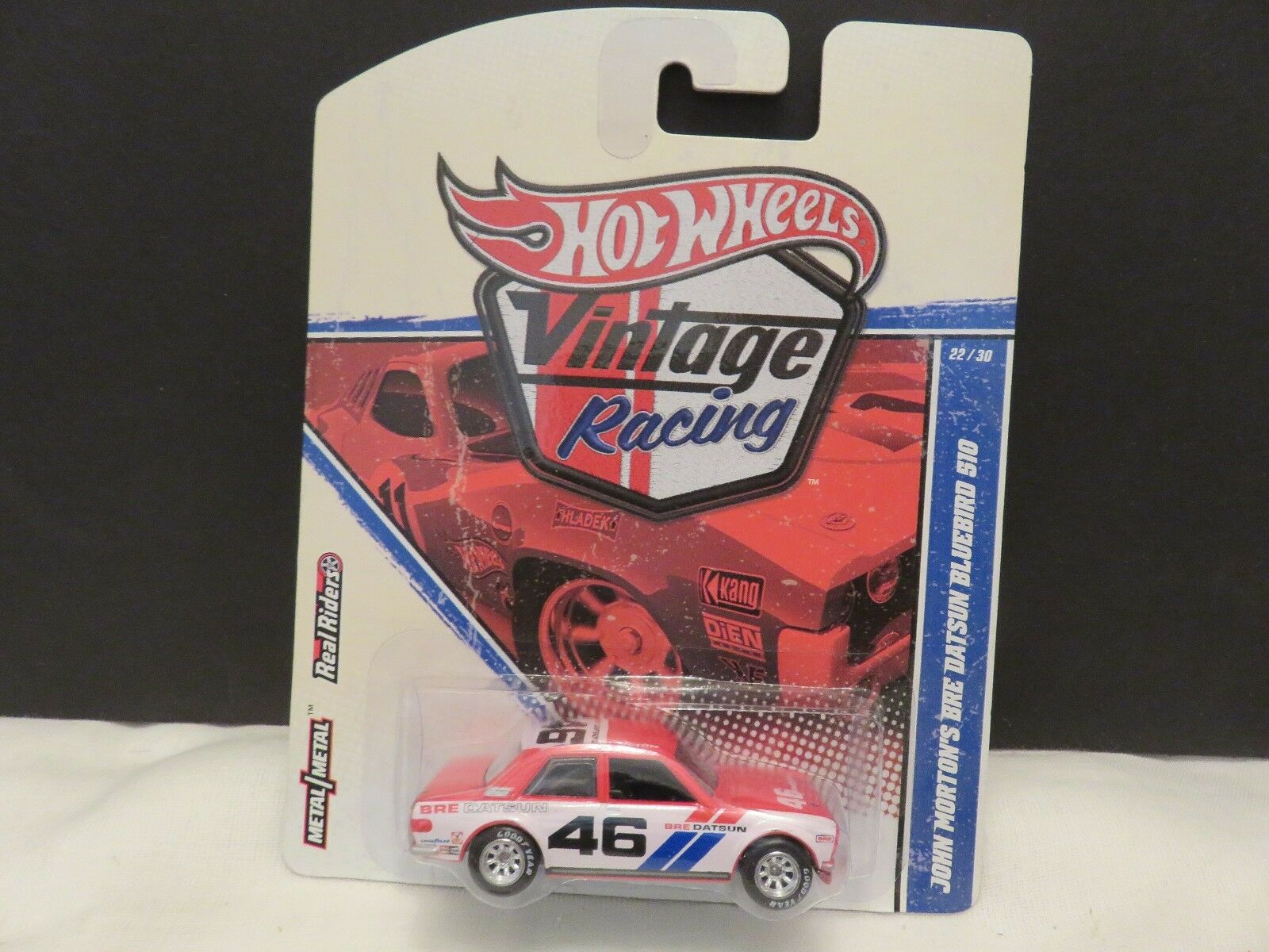 Hot Wheels VTG Racing John Morton's BRE DATSUN BlauBIRD 510 Die-Cast Real Riders