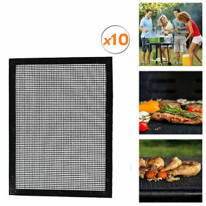 Barbecue Grille Anti-adhérent Bbq Téflon Barbecue Support Coque Grille Non-stick 10er Set-afficher Le Titre D'origine