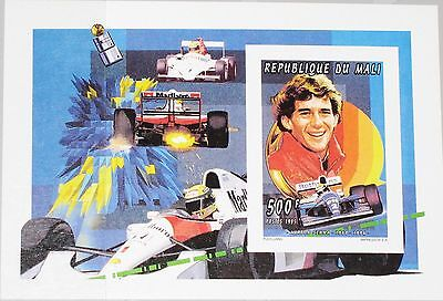 Aggressiv Mali 1995 Block D 77 B S/s 747 Imperf Ayrton Senna Formel 1 Driver Race Car Mnh Dauerhafte Modellierung