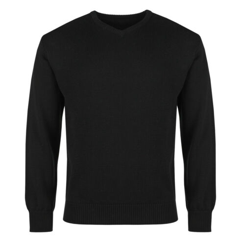 New Mens Knitted Jumper Long Sleeve Casual V Neck Sweater Winter Pullover Top