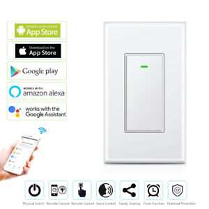 Smart WIFI Light Switch Wireless APP Voice Remote Control In-Wall Switch Timer