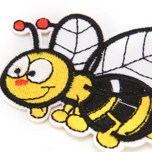 bee embroidered sew iron on patches set badge bag fabric applique craft DIY ZZ0H