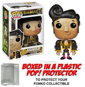 Funko-POP-Movies-MANOLO-FIGURE-w-Protector-Case-Book-of-Life-Retired