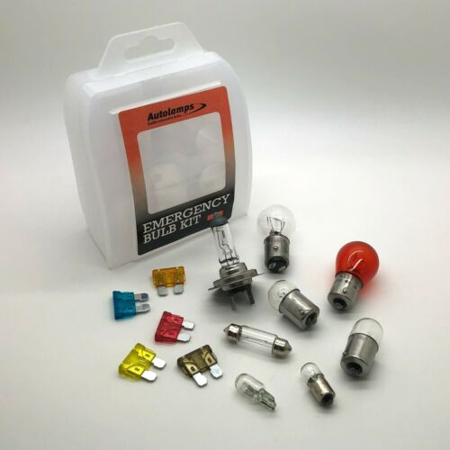 H7 Car Emergency Spare Bulb /& Fuse Replacement Travel Kit Set 13 Pcs E Marked