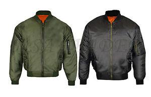MA1-Mens-Army-Pilot-Biker-Bomber-Fly-Military-Security-Doorman-Harrington-Jacket