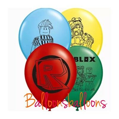 """6 X Roblox Latex 11/"""" Balloons Decoration Party"""