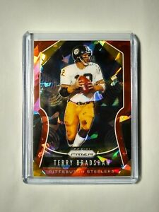 2019-Terry-Bradshaw-Panini-Prizm-Red-Cracked-Ice-286-Pittsburgh-Steelers-Card
