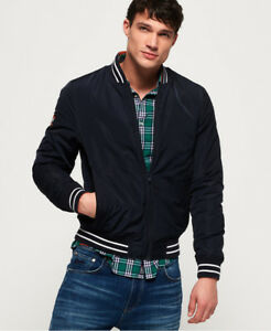 Time Bomber New Half Superdry Jacket Navy Mens 0nqq8HTwt