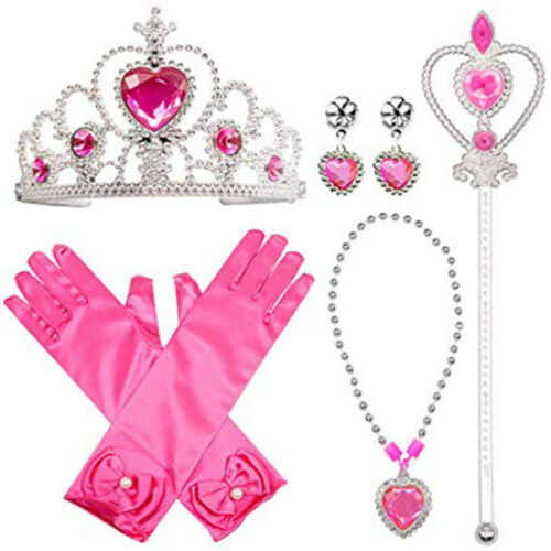 1x Princess Jewelry Dress Up Acessories Toys Set Party Supplies For Girls Cute