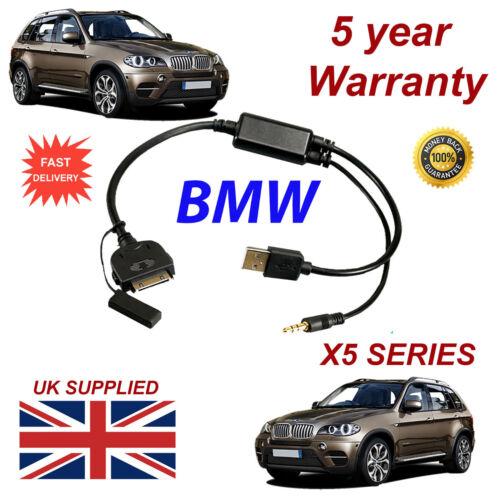 BMW X5 (611204407) 3GS Series 4 4S iPhone iPod Reemplazo De Cable Usb Y Aux