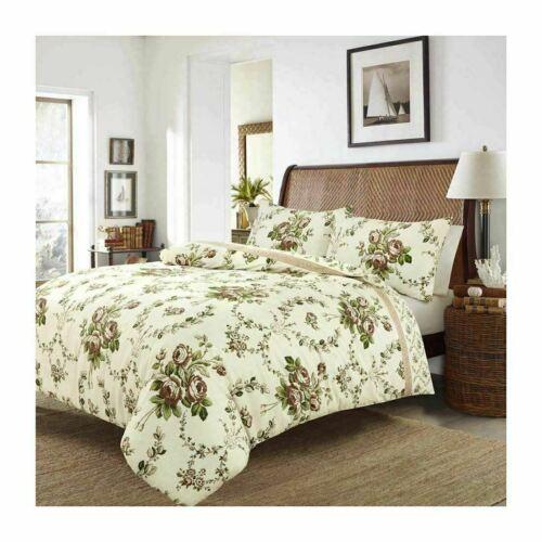 Olivia Floral Duvet Cover Brushed Cotton Flannelette Thermal Bedding Set