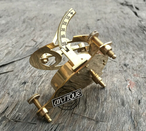 Marine Sundial//Compass Old West London Working Sundiel Clock Marine Vintage Xmas