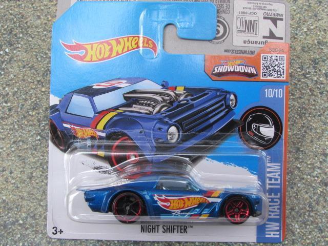 Hot Wheels 2016 #010/250 Notte Shifter Blu Hw Race Squadra Astuccio K Nuovo