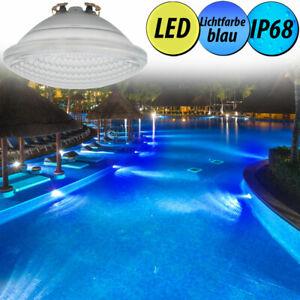Details zu SMD LED Pool Schwimmbad Beleuchtung blau PAR56 Leuchtmittel  Außen Lampe IP68