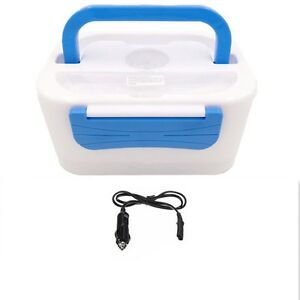 Portable-Electric-Lunch-Heated-Compact-Bento-Box-Food-Warmer-amp-12V-Car-Adapter