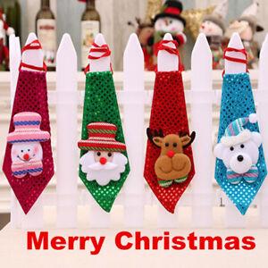 Christmas-Bow-Tie-Boys-Snowman-Santa-Claus-Creative-Xmas-Party-Accessories