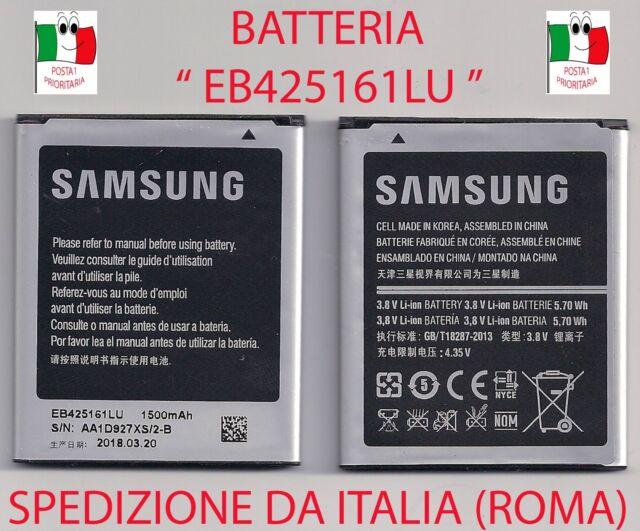 Batteria EB425161LU Samsung Galaxy Ace 2 GT i8160 capacità originale 1500mAh