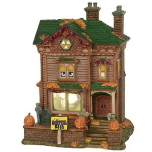Dept-56-Snow-Village-Halloween-034-MONSTER-MASH-PARTY-HOUSE-034-ANIMATED-amp-MUSICAL